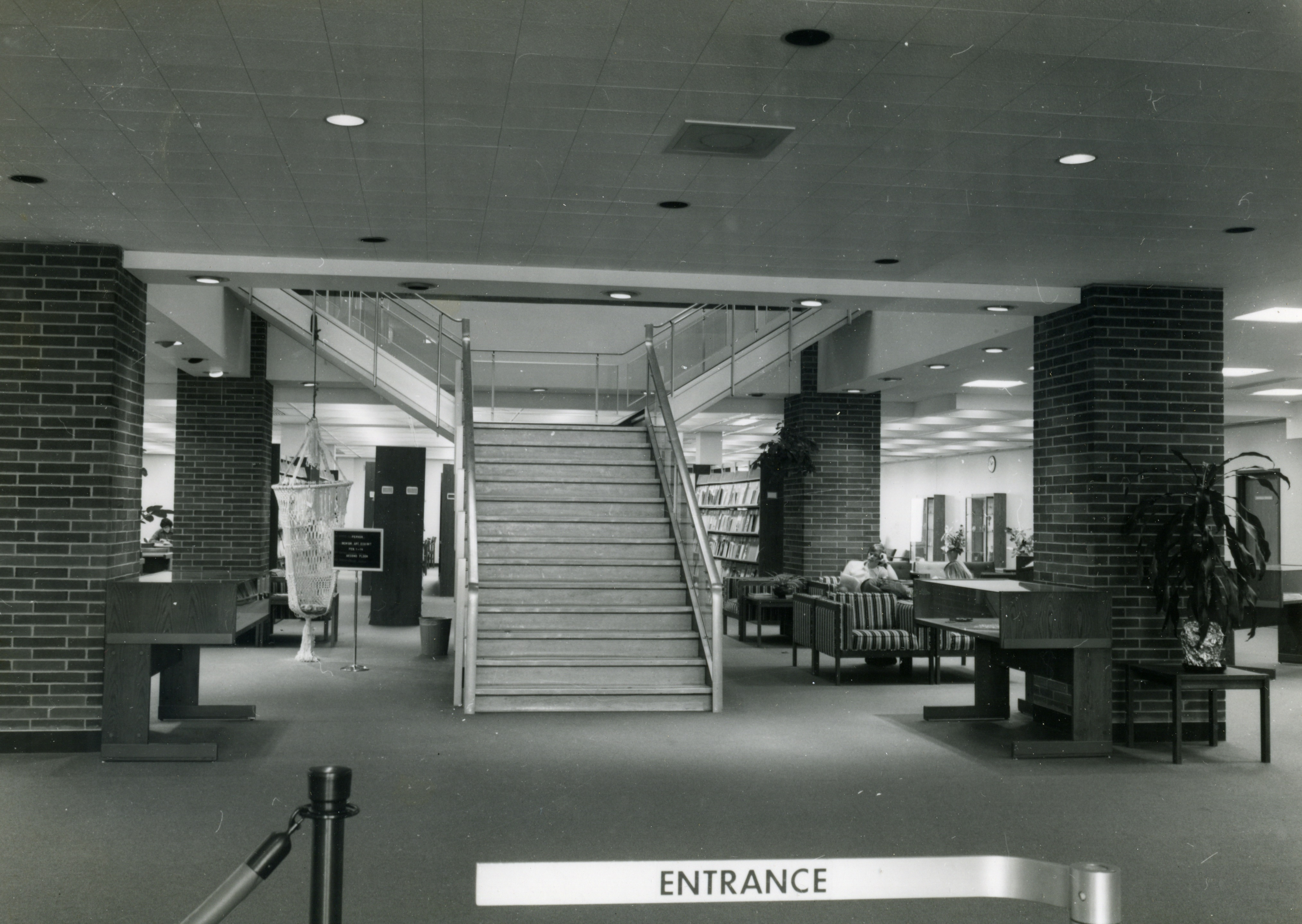 Blackwell Library's Interior Entrance, 1977