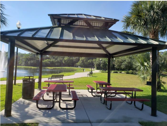 public Space, picnic tables, pavilion