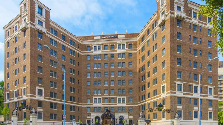 The Raphael Hotel in Kansas City opened as the Villa Serena Apartments in 1923