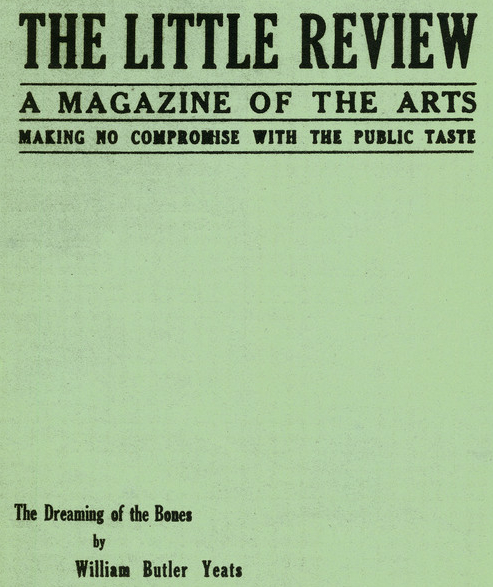 An issue of the Little Review featuring work by W.B. Yeats