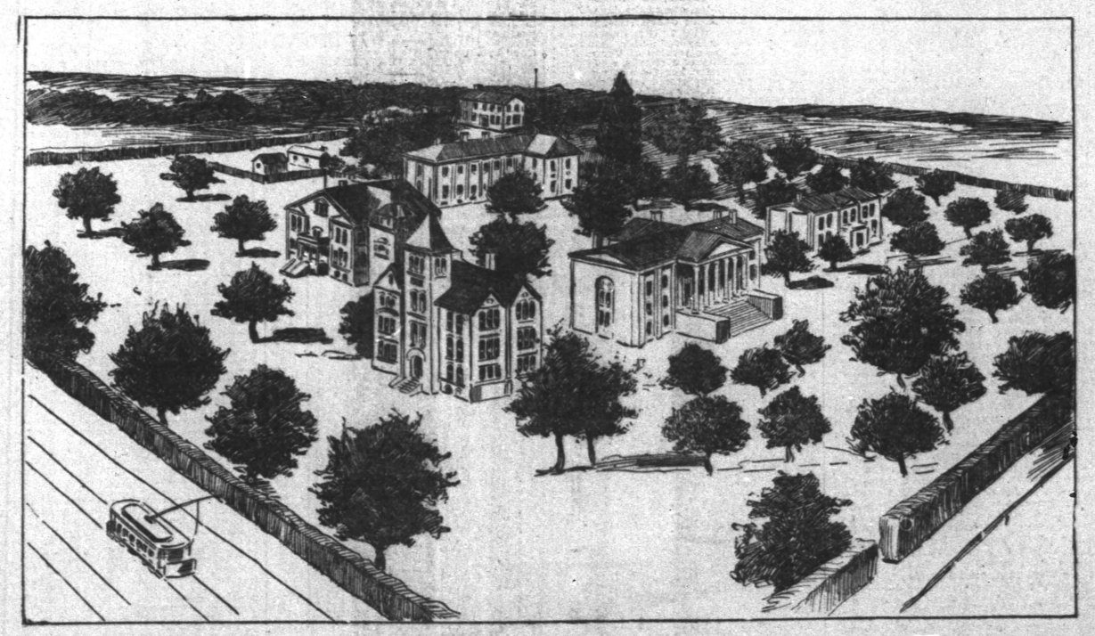 Transylvania's campus as it was in 1899.