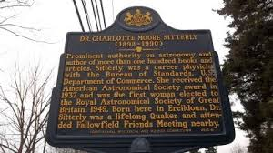 Dr. Charlotte Moore Sitterly Historical Marker, honoring Dr. Sitterly and her home-place for her work in astrophysics
