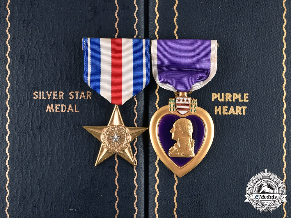 A Silver Star & Purple Heart