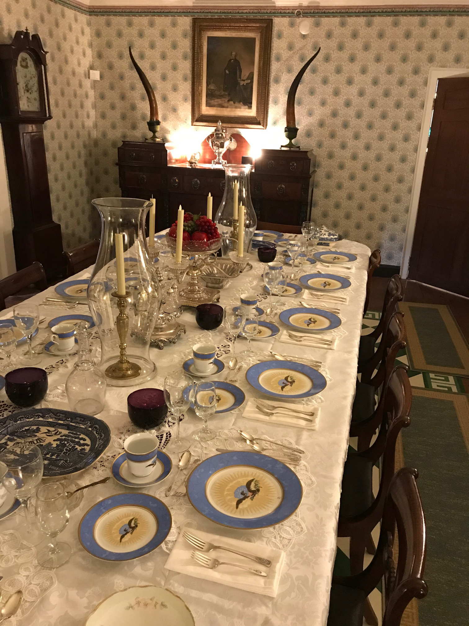 Dining Room Table and China