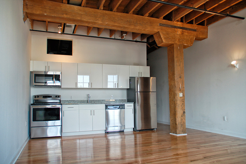 The Kitchen Space in One of the Brass Building Loft Apartment