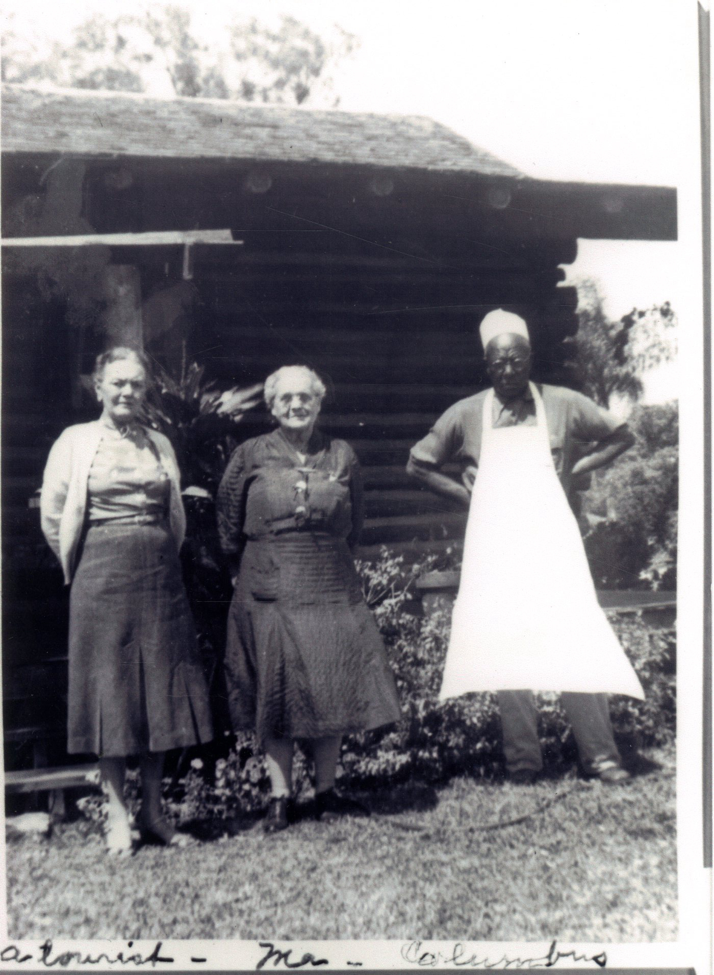 Jessie Candler Coachman and Columbus Moore at the first Kumquat Shop, Clearwater, Florida, circa 1940.