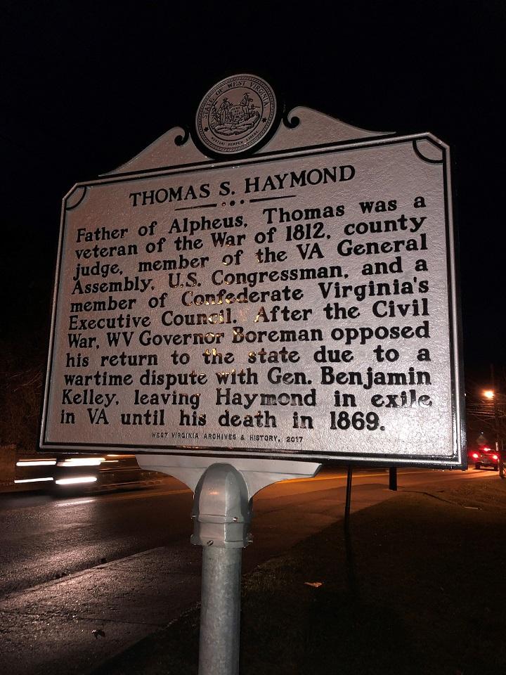 Thomas S. Haymond Highway Historical Marker
