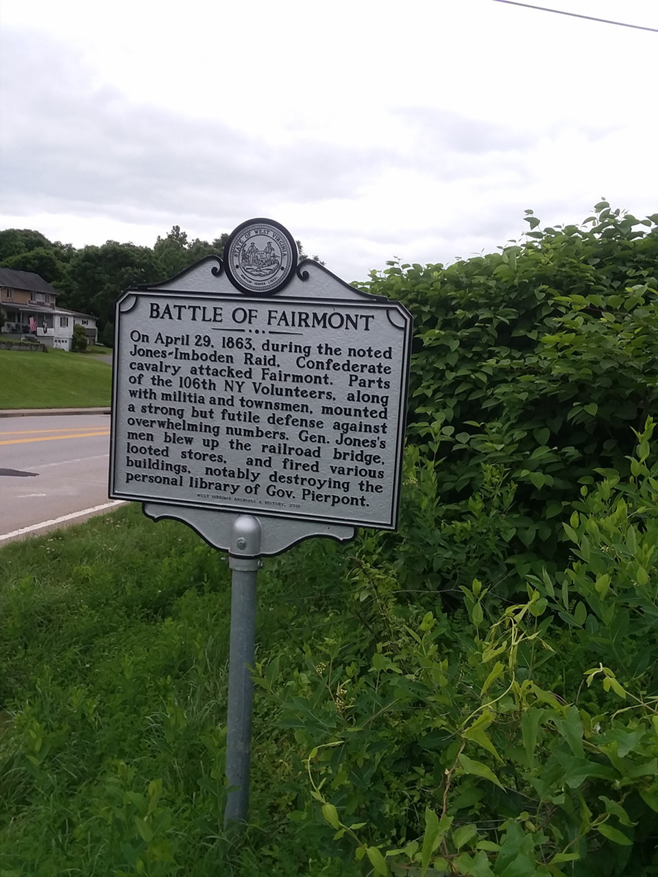 The Battle of Fairmont Historical Marker
