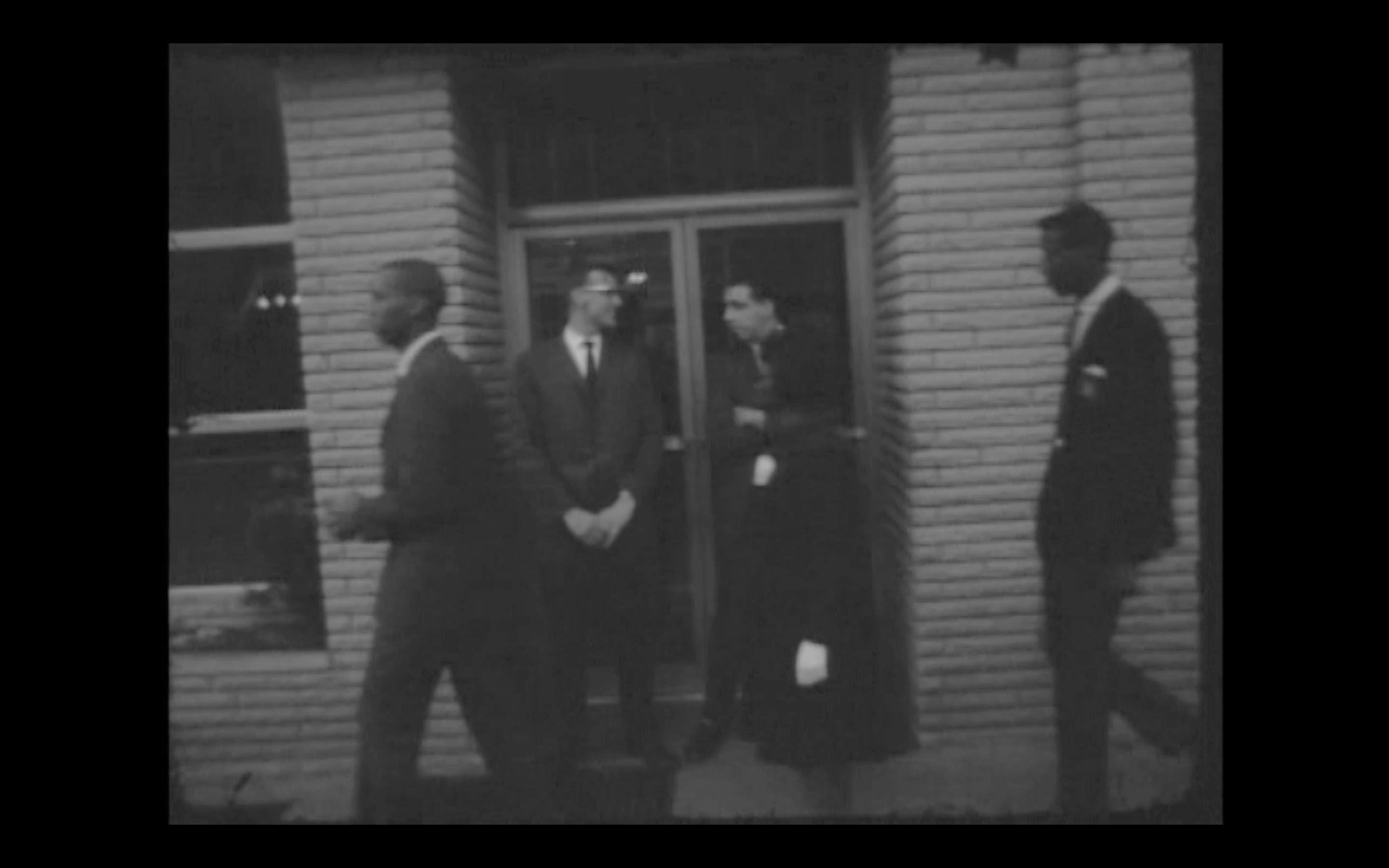 The guards blocking the door to keep blacks from entering on May 1, 1963.