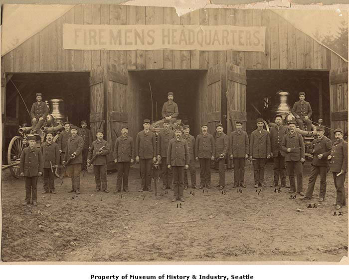 Seattle's first professional fire department, November 1889.