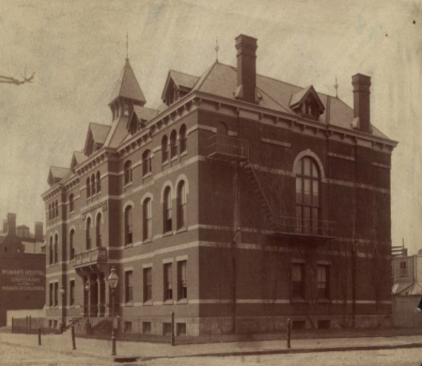 In 1862 the Women's Medical College of Pennsylvania moved from its original location at 627 Arch Street to this building on North College Avenue next to the Women's Hospital of Philadelphia (Mandell, Melissa).