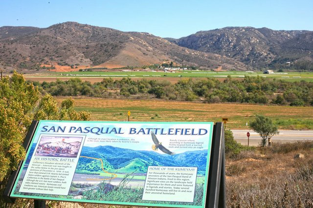 View of the battle site from the top of the Park
