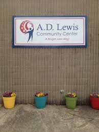 A.D. Lewis Community Center sign