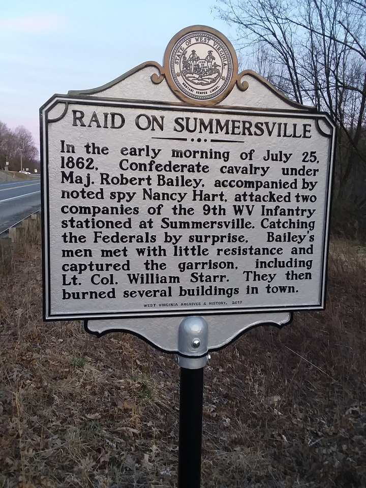 Raid on Summersville Historical Marker
