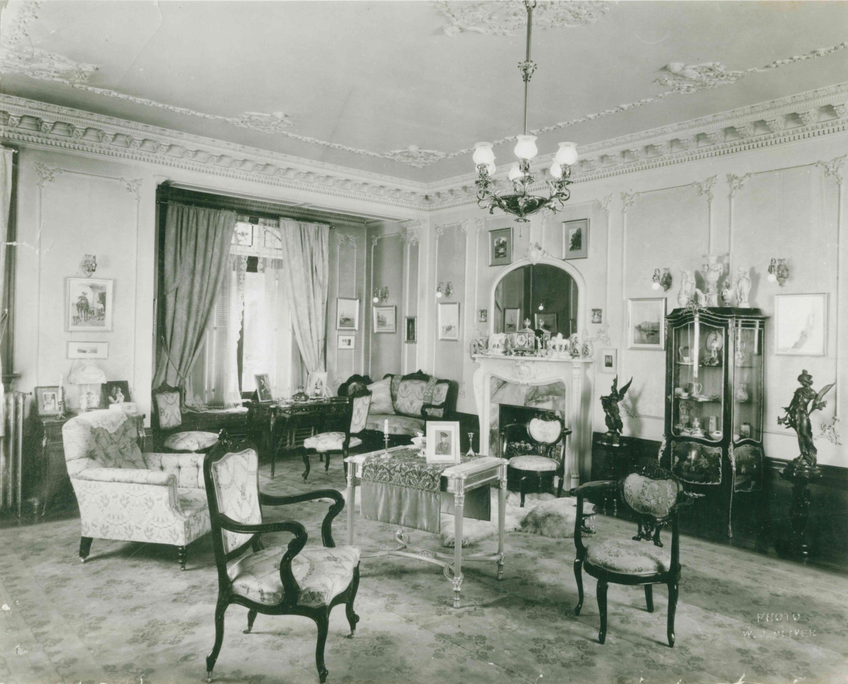 Image 3, Front Sitting Room Lougheed House Calgary, AB, c. 1920