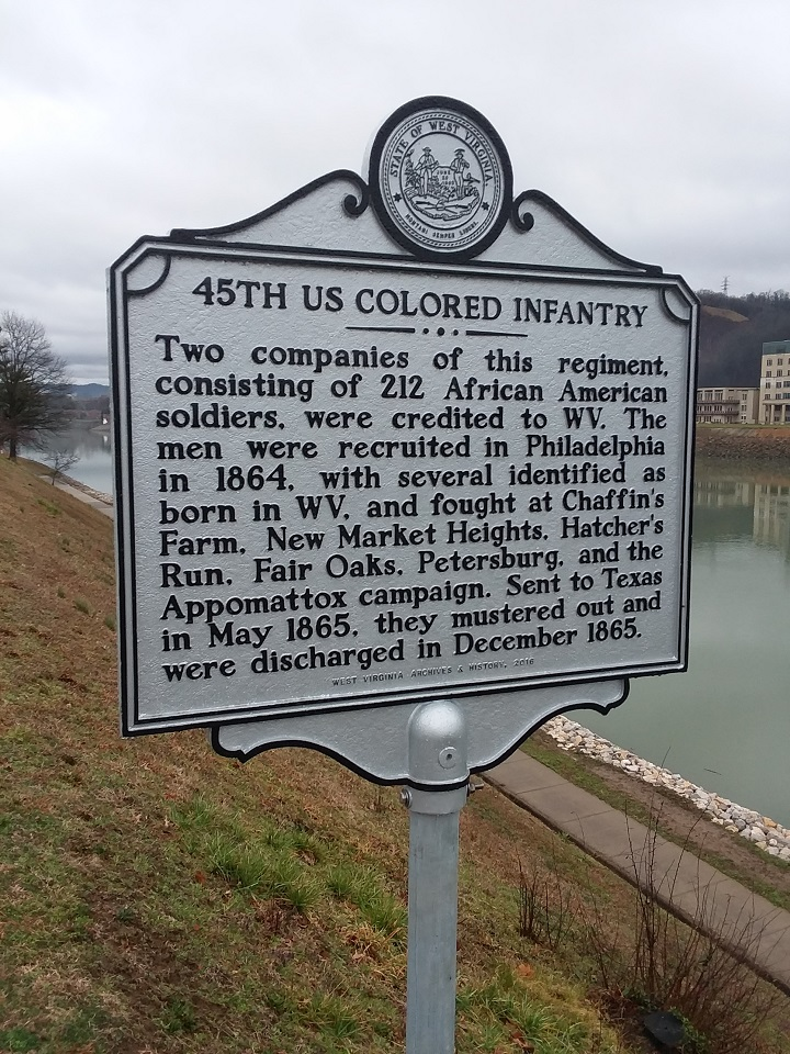 45th US Colored Infantry Historical Marker