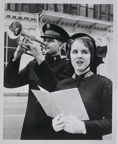 Salvation Army West Coast trumpet player in the 1960s