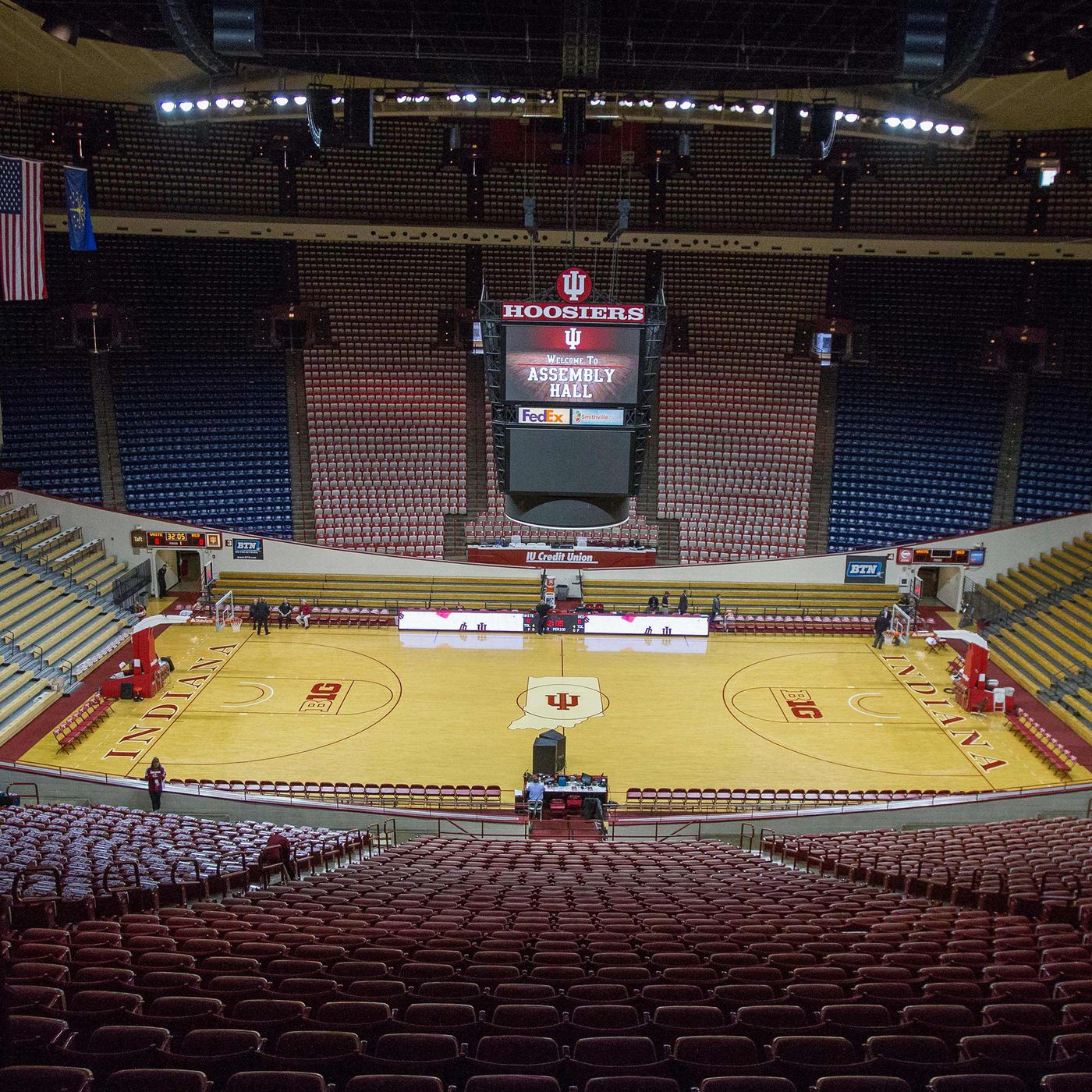 The calm before the storm of a big game at Indiana University