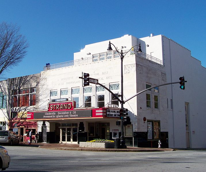 The historic Strand Theatre was built in 1935 and is an excellent example of Art Deco architecture.