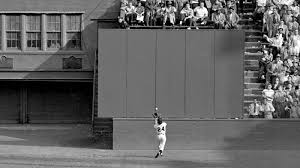 Willie Mays' infamous deep centerfield catch