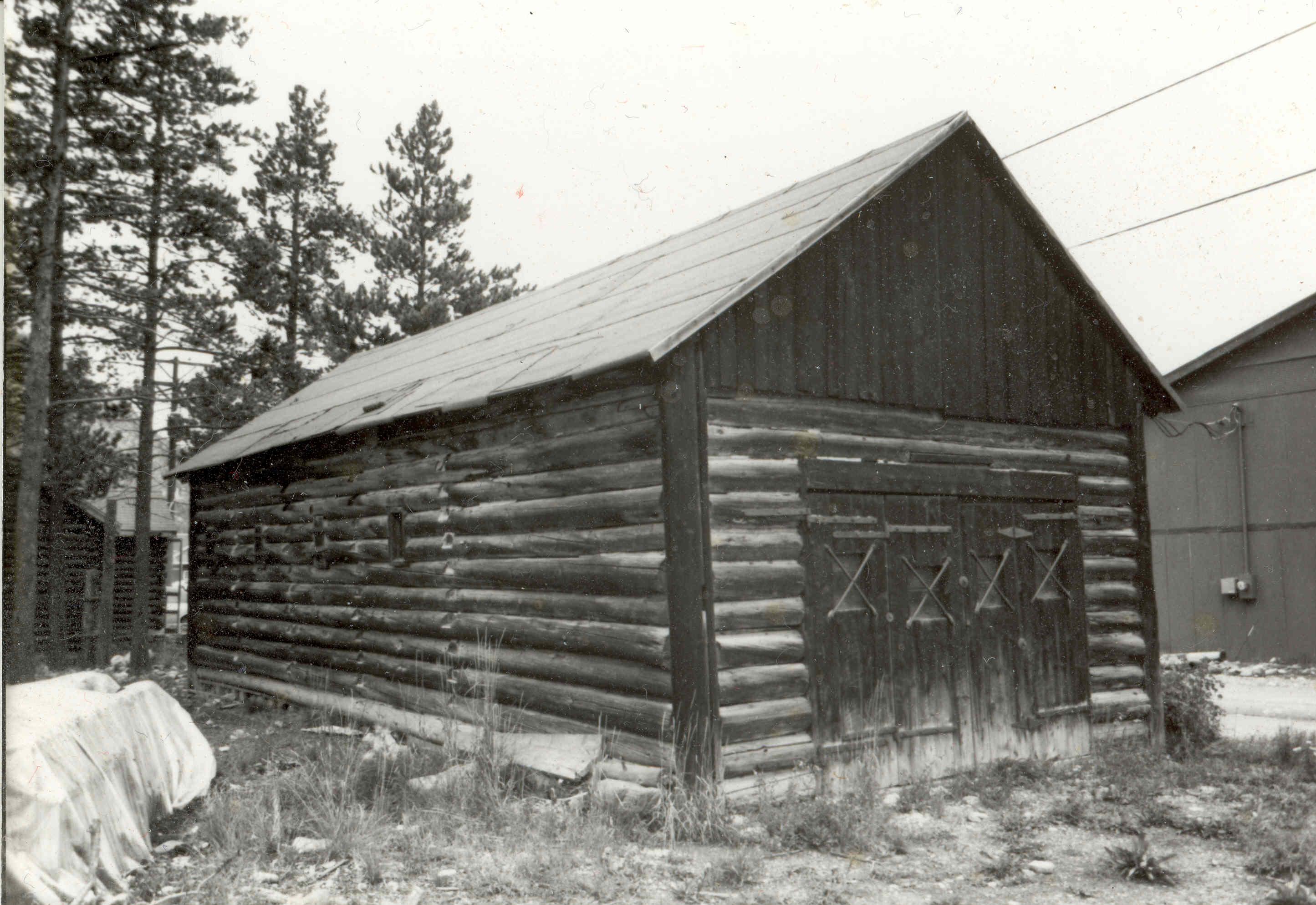 The Jail at its original location. Circa 1983.