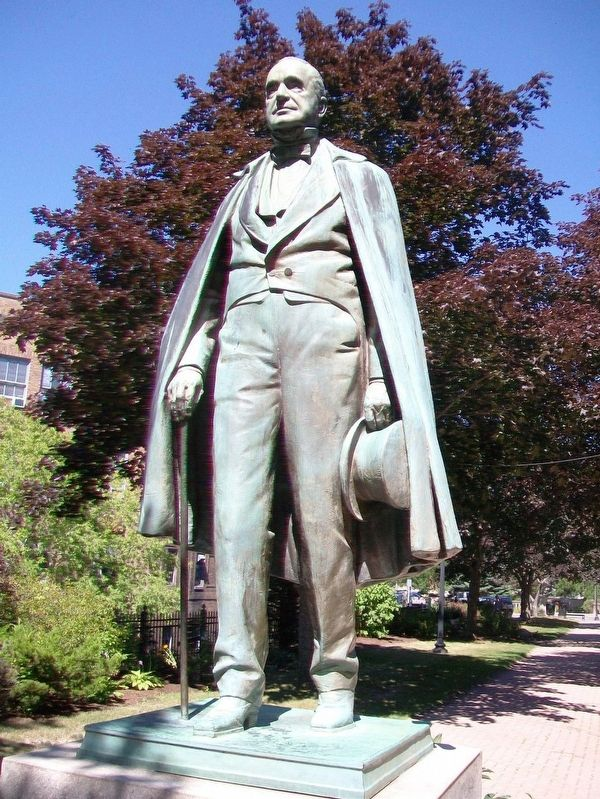 Photograph of the Hannibal Hamlin Statue.
