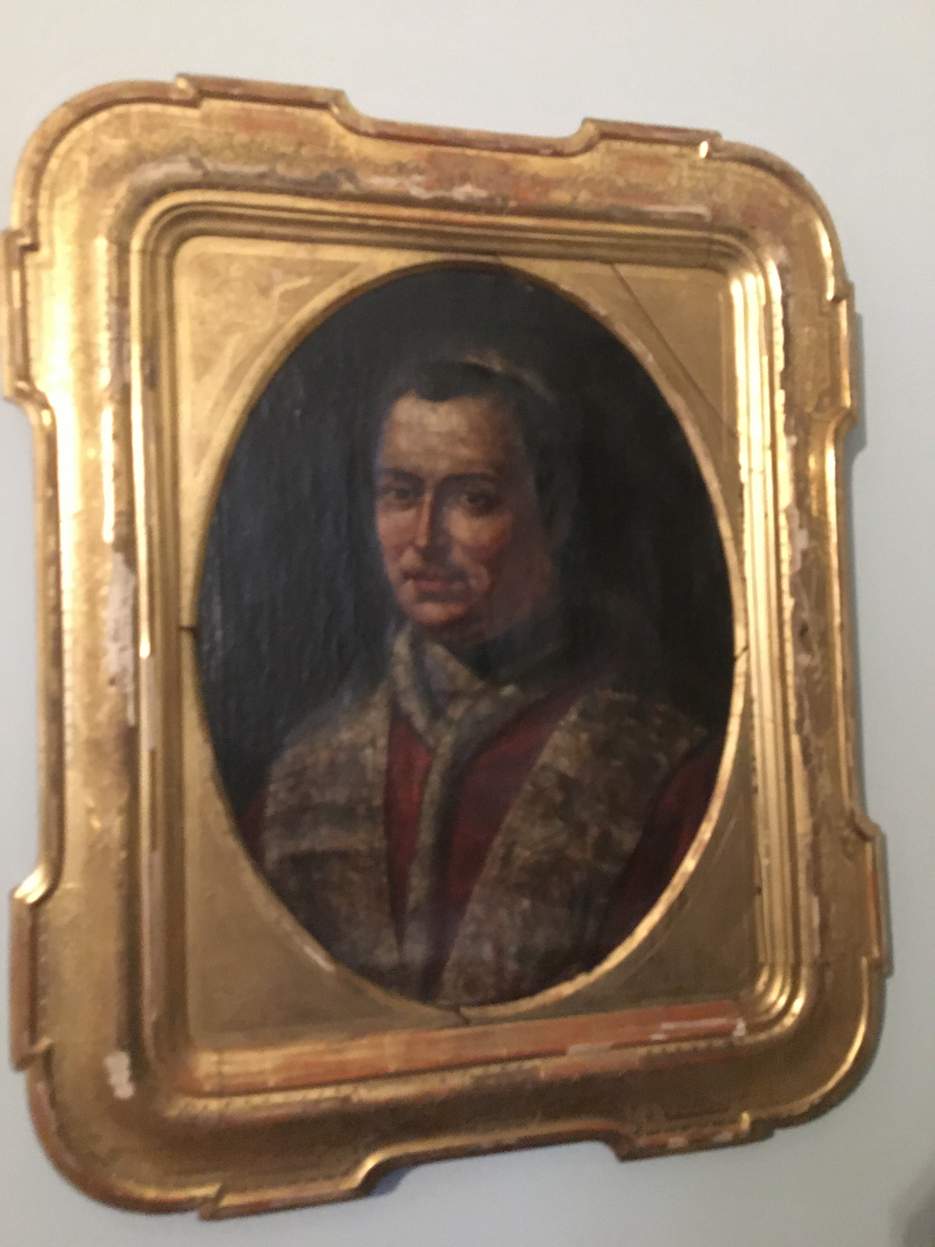 Very old gold portrait of the Pope
