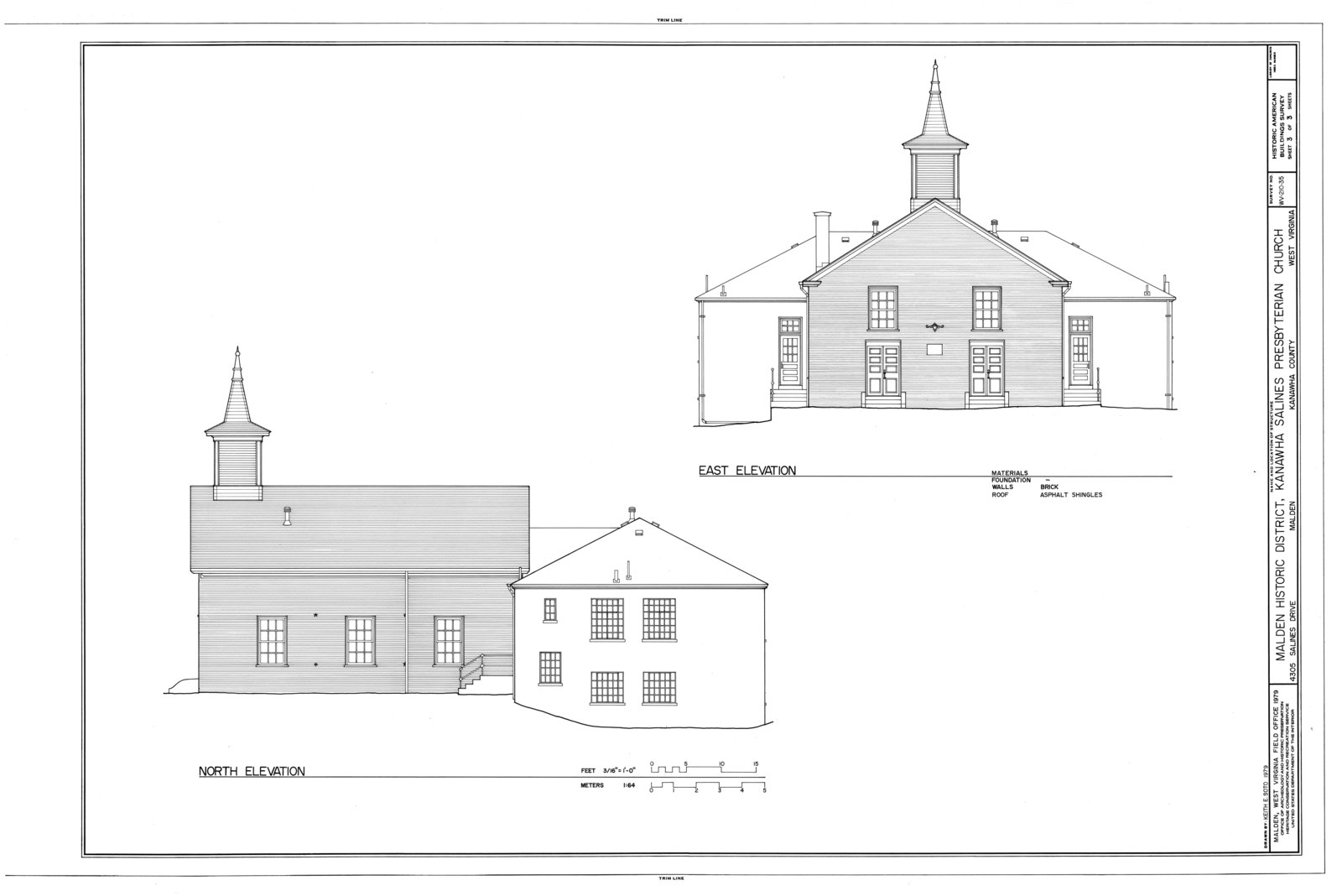 Architectural drawing of the church