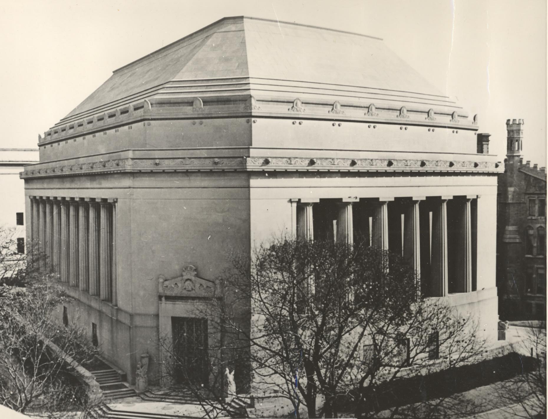 Exterior of current chapel, built 1933