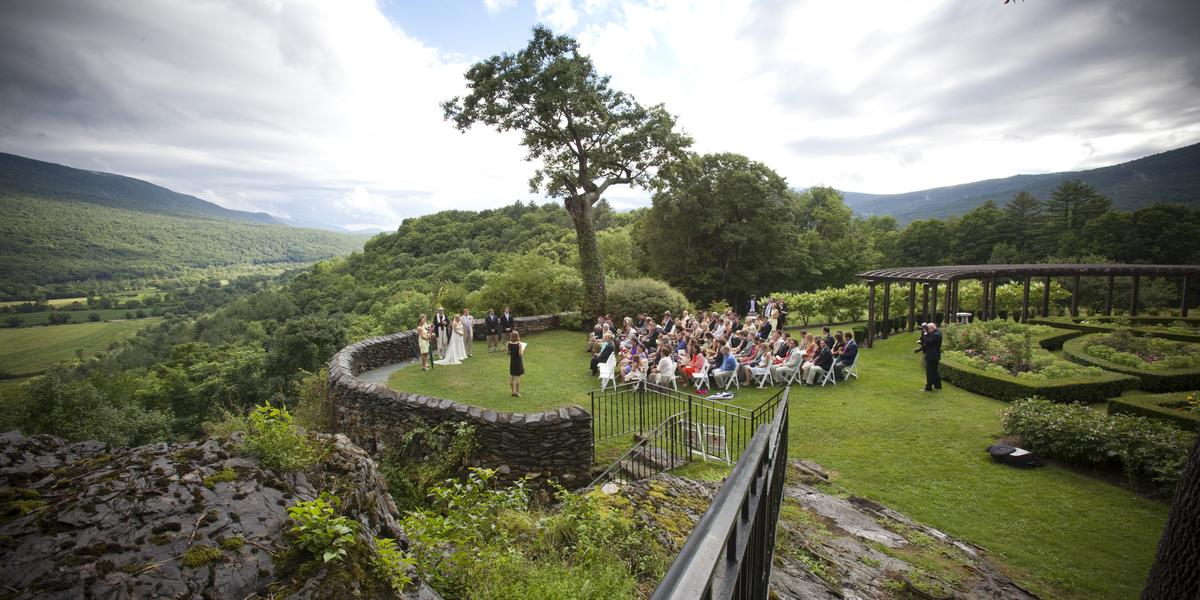 With a setting like this it's easy to see why Hildene's a popular wedding venue.