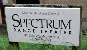 Sign outside of Spectrum Dance Theater