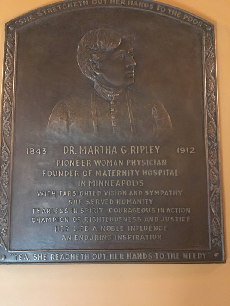 Ripley's memorial plaque, which was placed in the Minnesota State Capitol in 1939