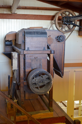 Antique milling equipment at Moores' Flour Mill