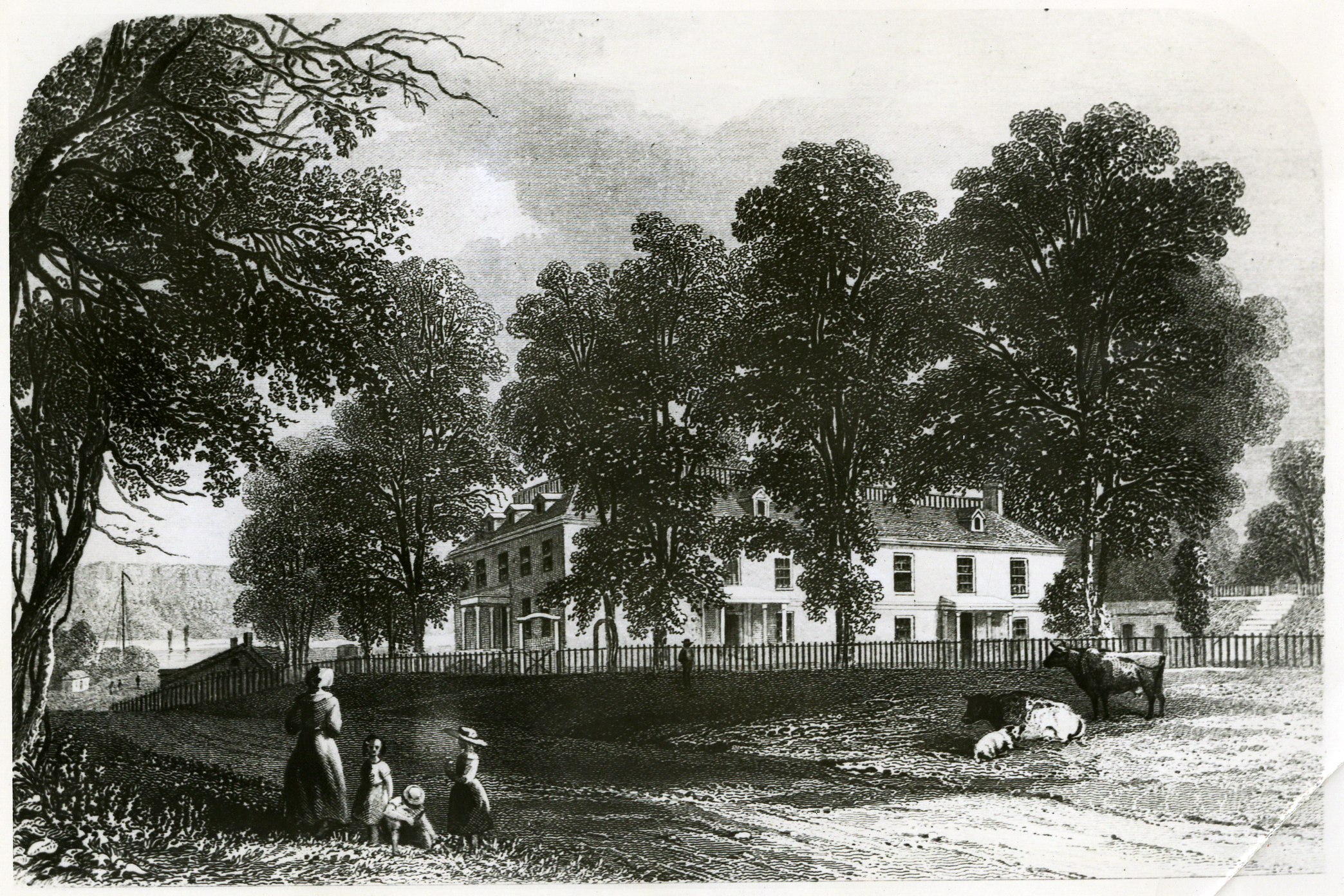 Engraving of Philipse Manor Hall
