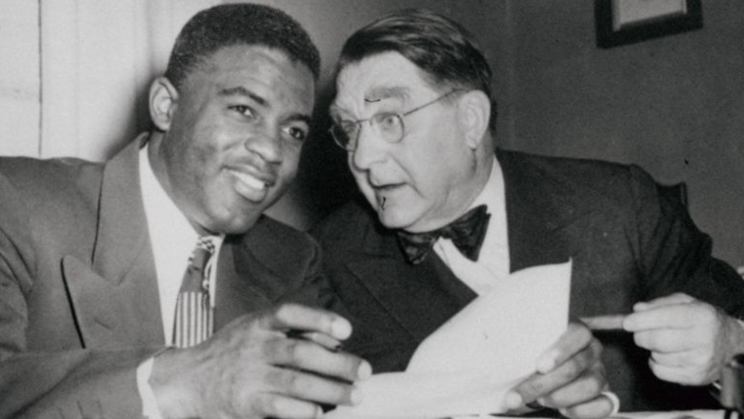 Branch Rickey and Jackie Robinson made history together, breaking the color barrier in Major League Baseball. Both men blazed the trail for other African American's to play in the major leagues.