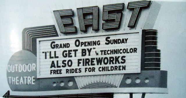 The theater's marquee for its opening in 1950