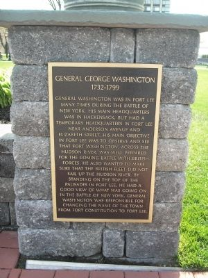 Photograph of the George Washington Historical Marker at Monument Park.