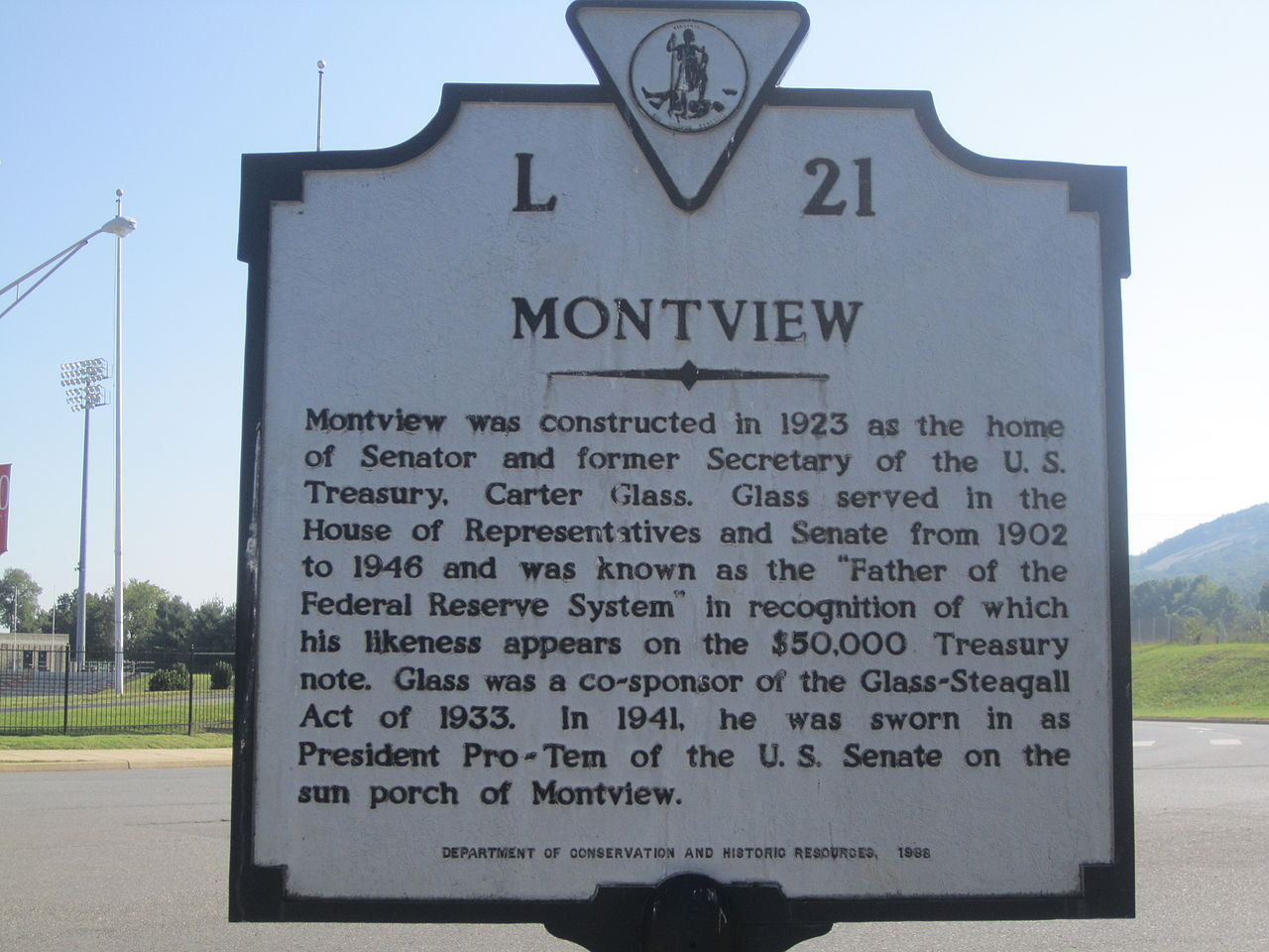 The historical marker about Montview