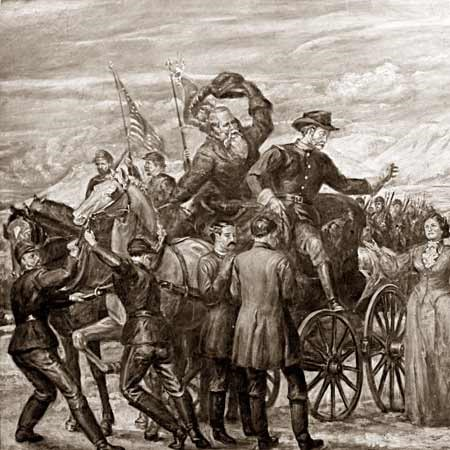 Returning from the Battle of Bear River