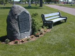 "The cemetery's monument to ""Pioneer Mothers"""