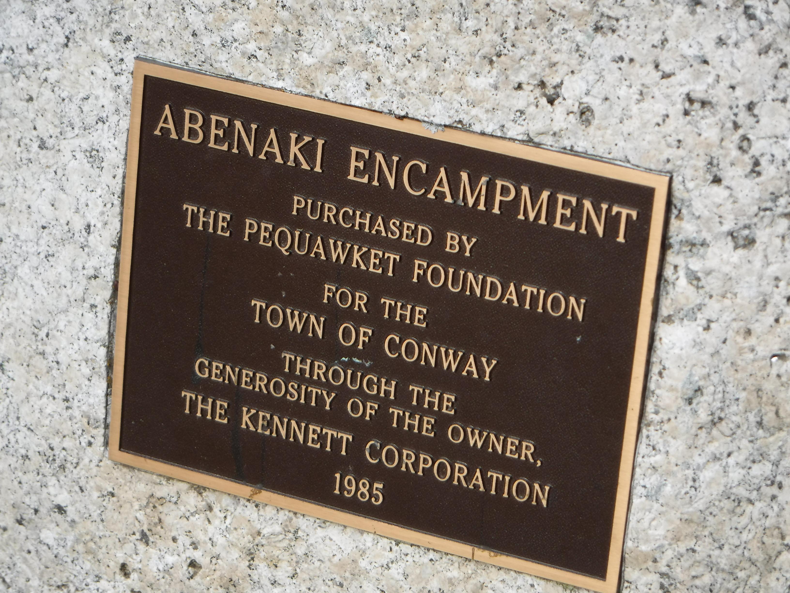 Detail of acknowledgement plaque