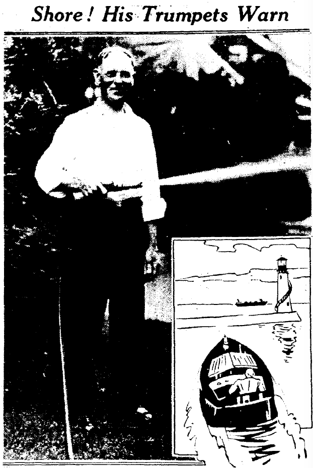 Charles Perry at his 2101 West Blvd residence in the Plain Dealer, 1934.