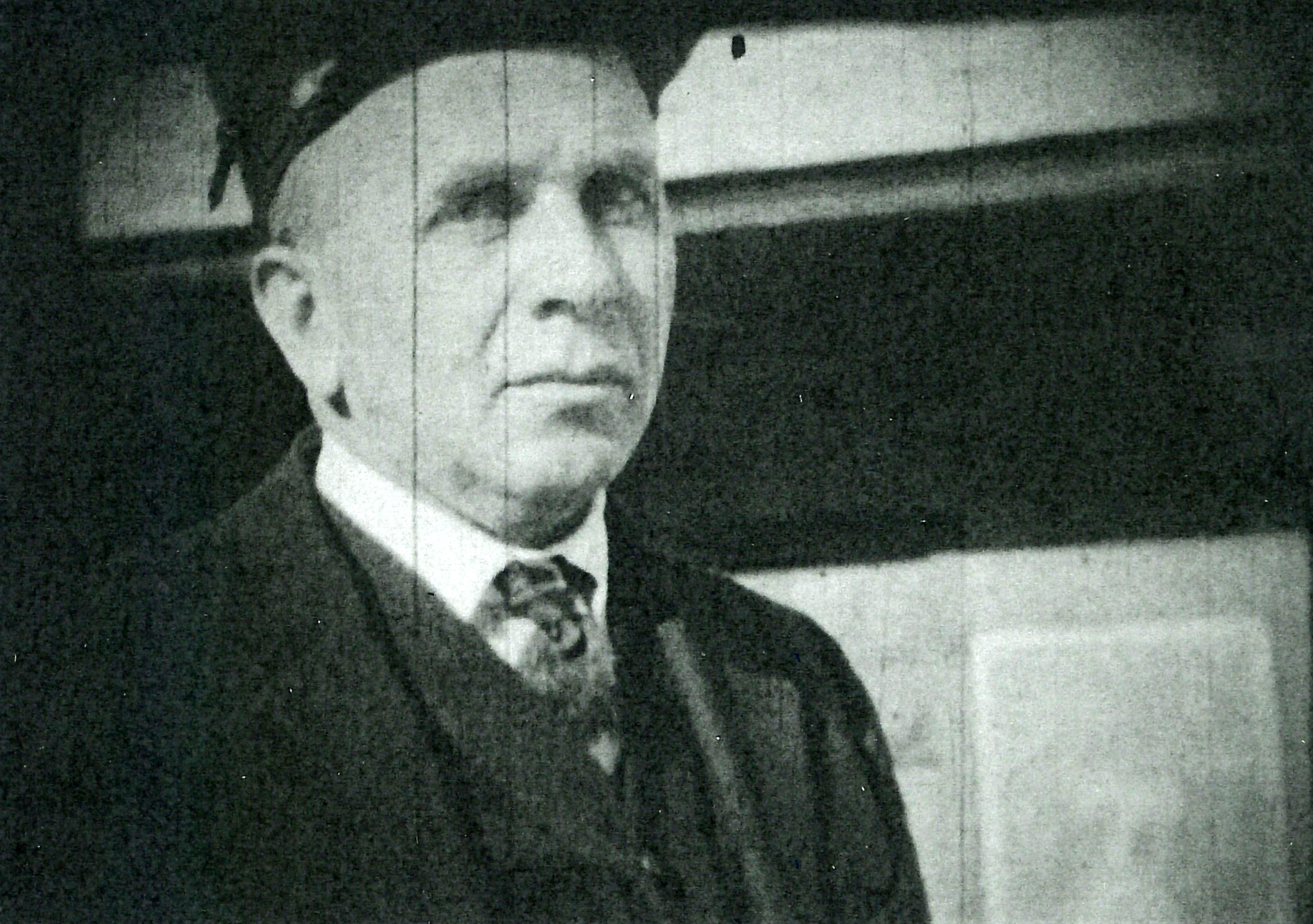 Still image of Forrest Gillingham taken from film by Oscar Polhemus, circa 1930.