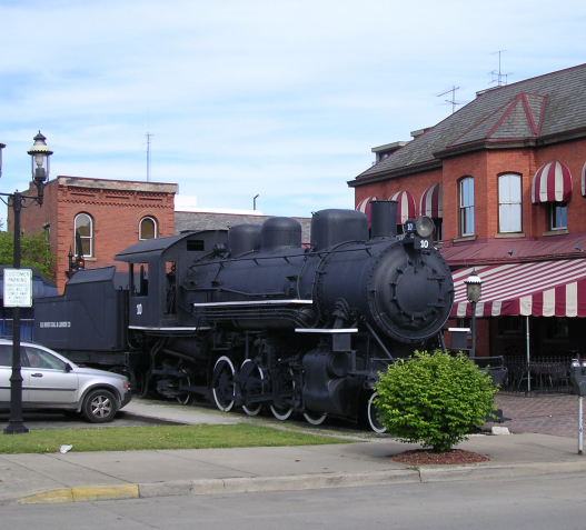 Elk River Coal & Lumber Company #10 Steam Locomotive. It's location has been slightly changed since the 2006 nomination.