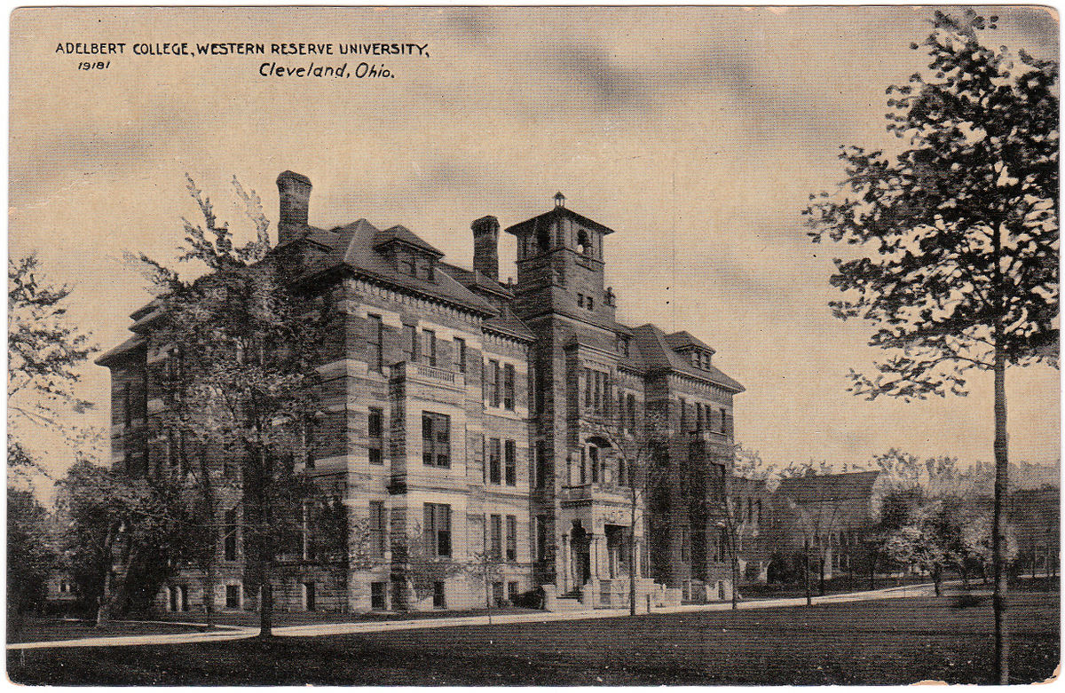 Adelbert College, where Williams acted as the Librarian from 1892-1909.