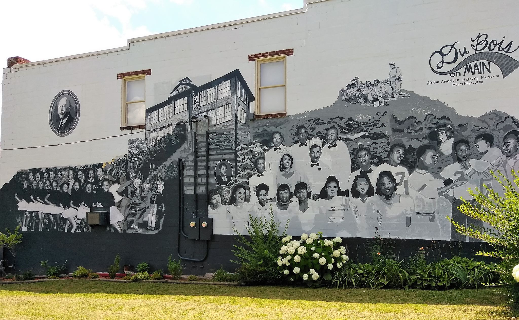 A mural on the side of the DuBois on Main Museum, in Mt. Hope, West Virginia.