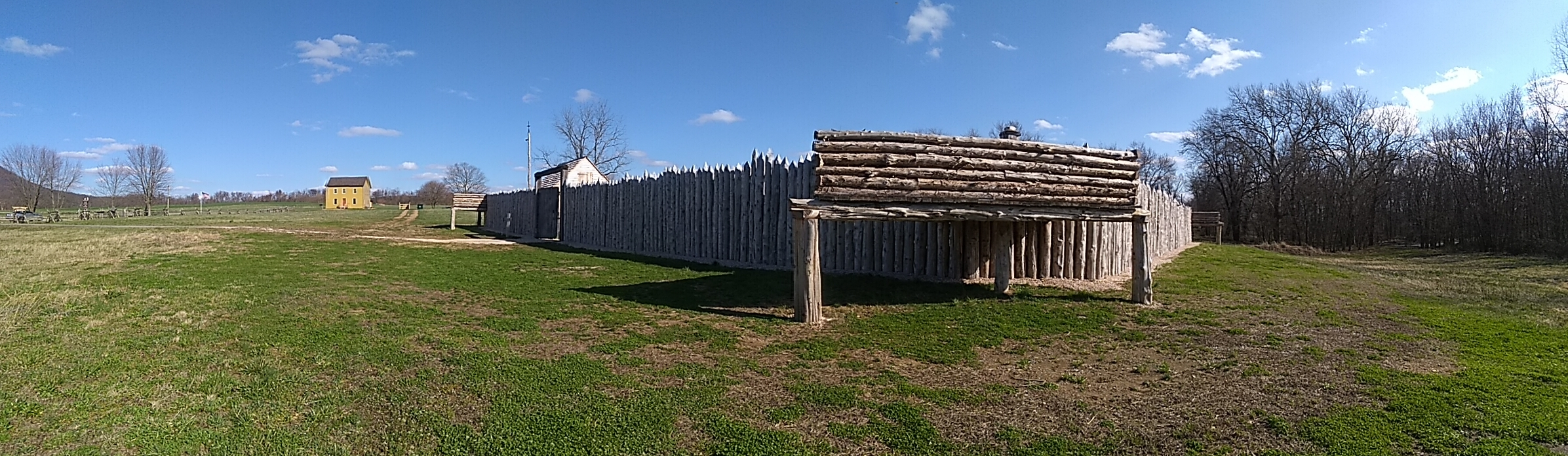 Looking at the reconstructed Fort Loudoun from the West