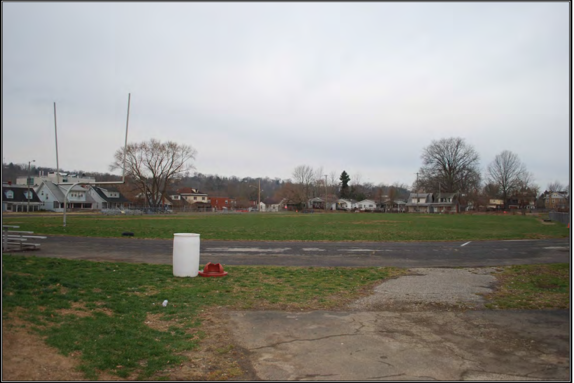 Athletic field adjacent to the A. D. Lewis Community Center, formerly associated with Douglass Junior and Senior High School