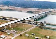 Jesse Stuart Memorial Bridge (Side Aerial View)