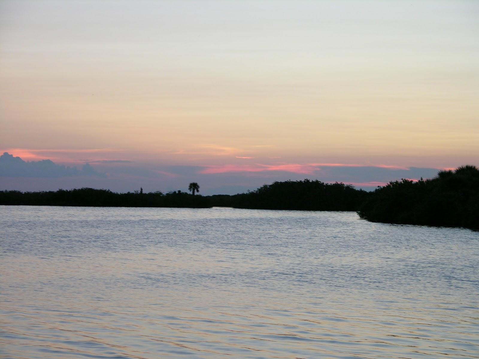 sunset at Mosquito Lagoon